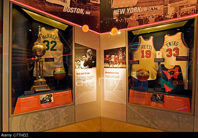 NBA Basketball displays.