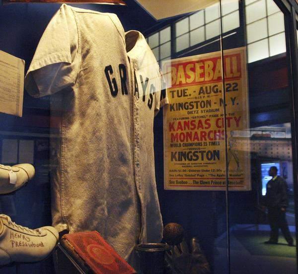 Baseball display.