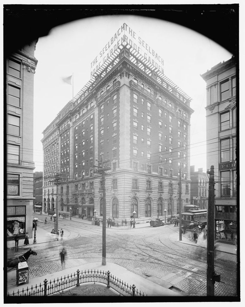 This historic photo was taken shortly after the hotel opened in 1905.