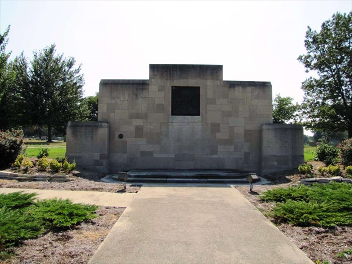 This memorial to the abolitionists Edward Coles was dedicated in 1929 and reflects the popularity of Art-Deco inspired designs during that era.
