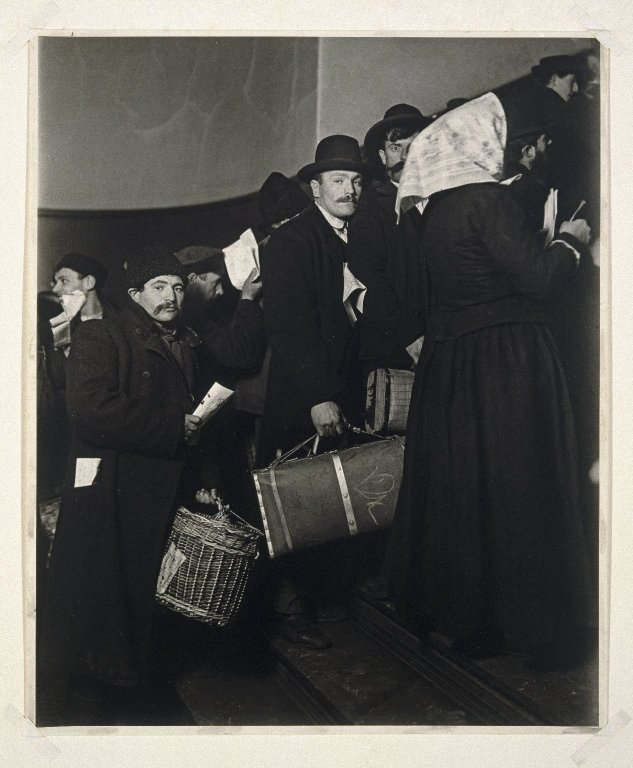 Immigrants arriving at Ellis Island, 1902.