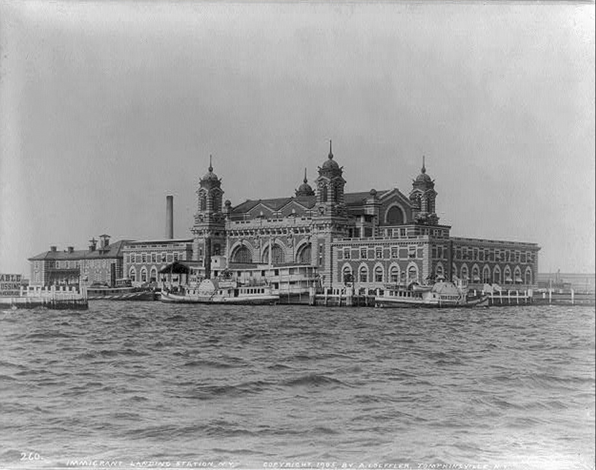 Second Ellis Island Immigration Station, opened on December 17, 1900, as seen in 1905.