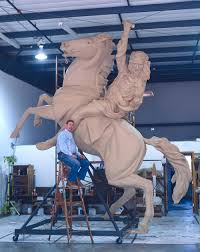 During development of the Unconquered Statue.