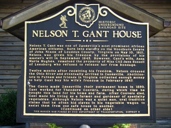Historical Marker for the Gant House