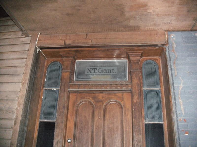 Front Door of the Gant Homestead