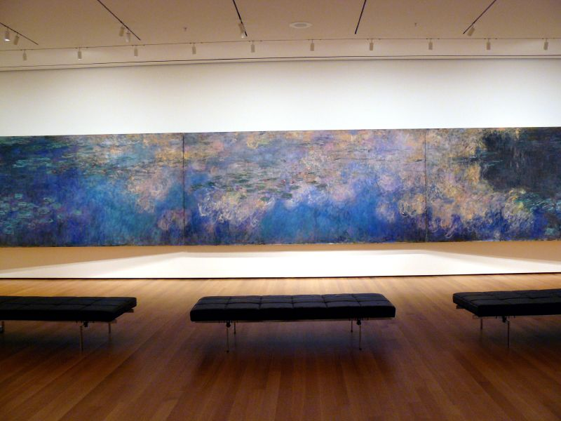 Claude Monet, Reflections of Clouds on the Water-Lily Pond, c.1920. This piece was bought to replace another Monet water lilies painting destroyed in the 1958 fire.