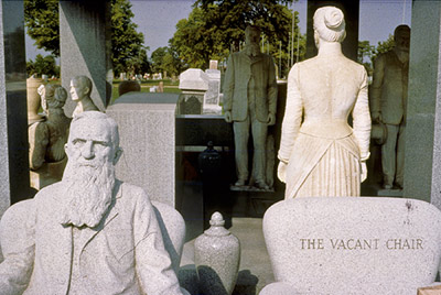 The final statues were made with granite instead of marble, perhaps reflecting that Davis spent his entire fortune constructing this elaborate memorial.