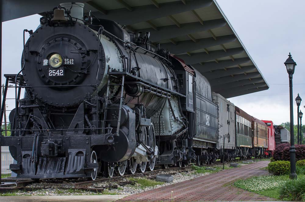 The museum is located in the original Illinois Central passenger terminal and includes a historic 200-ton steam locomotive