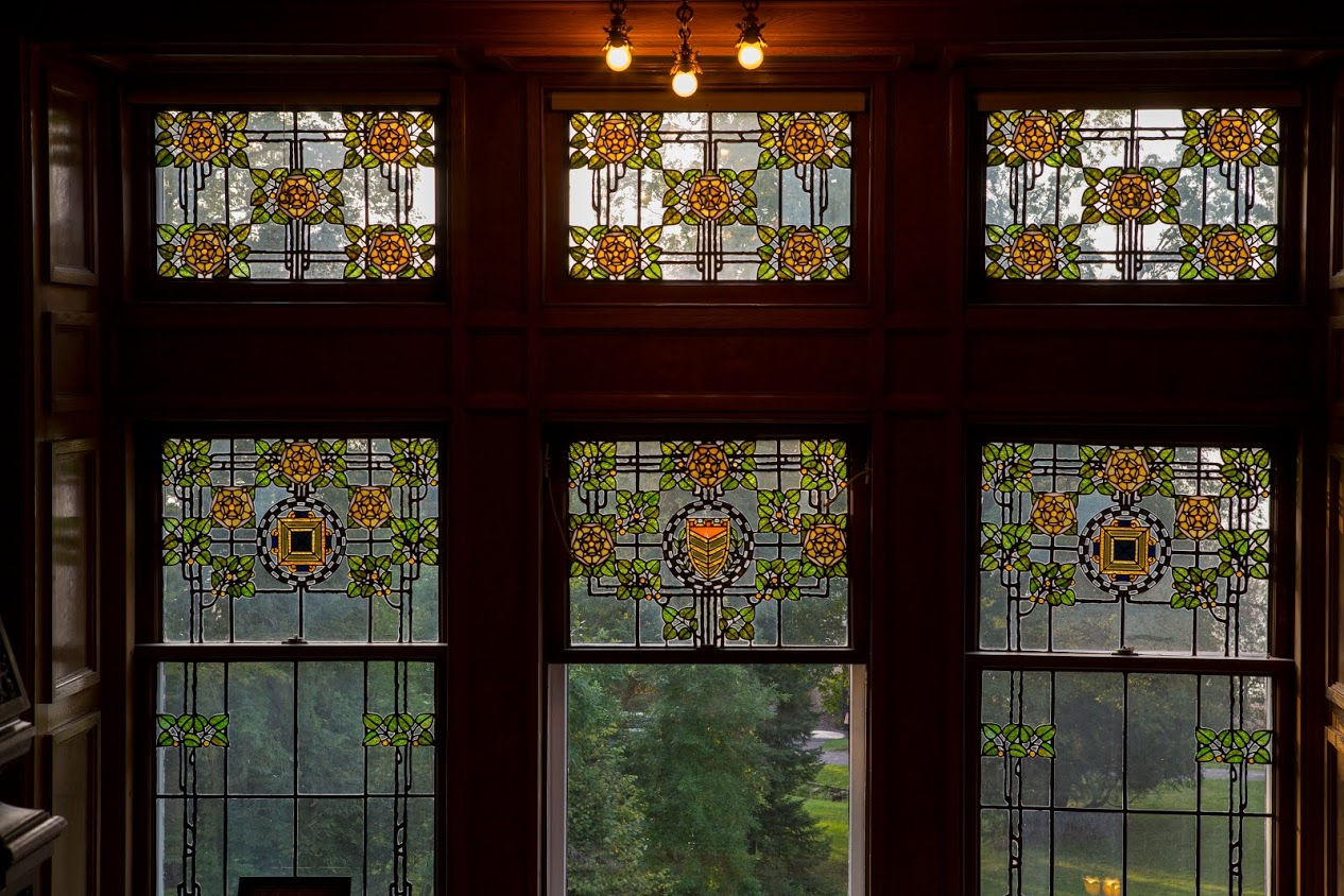 Some of the stained glass windows at the mansion. Credit: University of Minnesota-Duluth - Glensheen, The Historic Congdon Estate