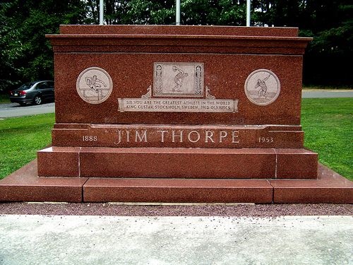 """Tombstone for James Francis """"Jim"""" Thorpe"""