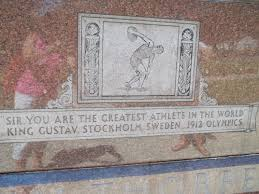 Close up photo of the inscription on the mausoleum.