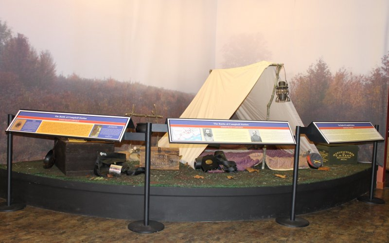One of the Civil War exhibits at the Farragut Folklife Museum