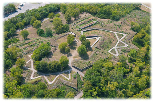 Aerial view of Fort Negley, 2011