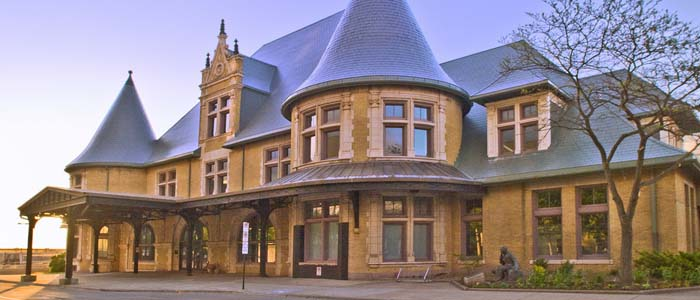 The Duluth Depot was built in 1892 and saw over 5000 daily passengers at its peak.