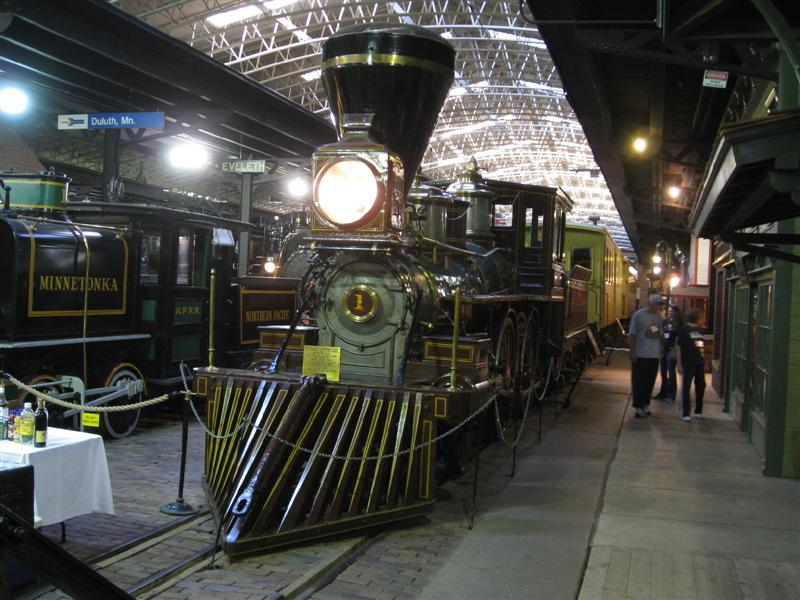 A train on display at the railroad museum