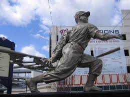 The statue of Josh Gibson outside Nationals Park.