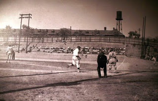 Old picture of Josh Gibson on Ammon Field.