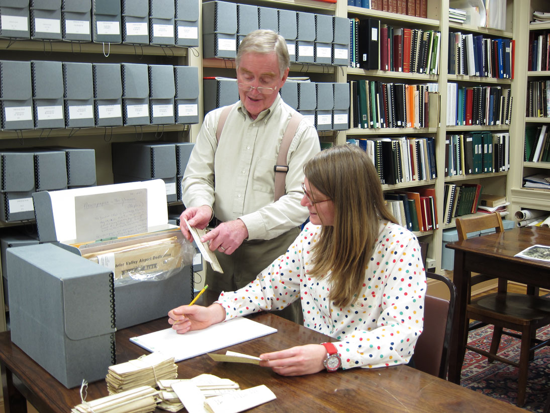 The archives and library are located in the North House along with the museum. Free research assistance is available whenever the museum is open.