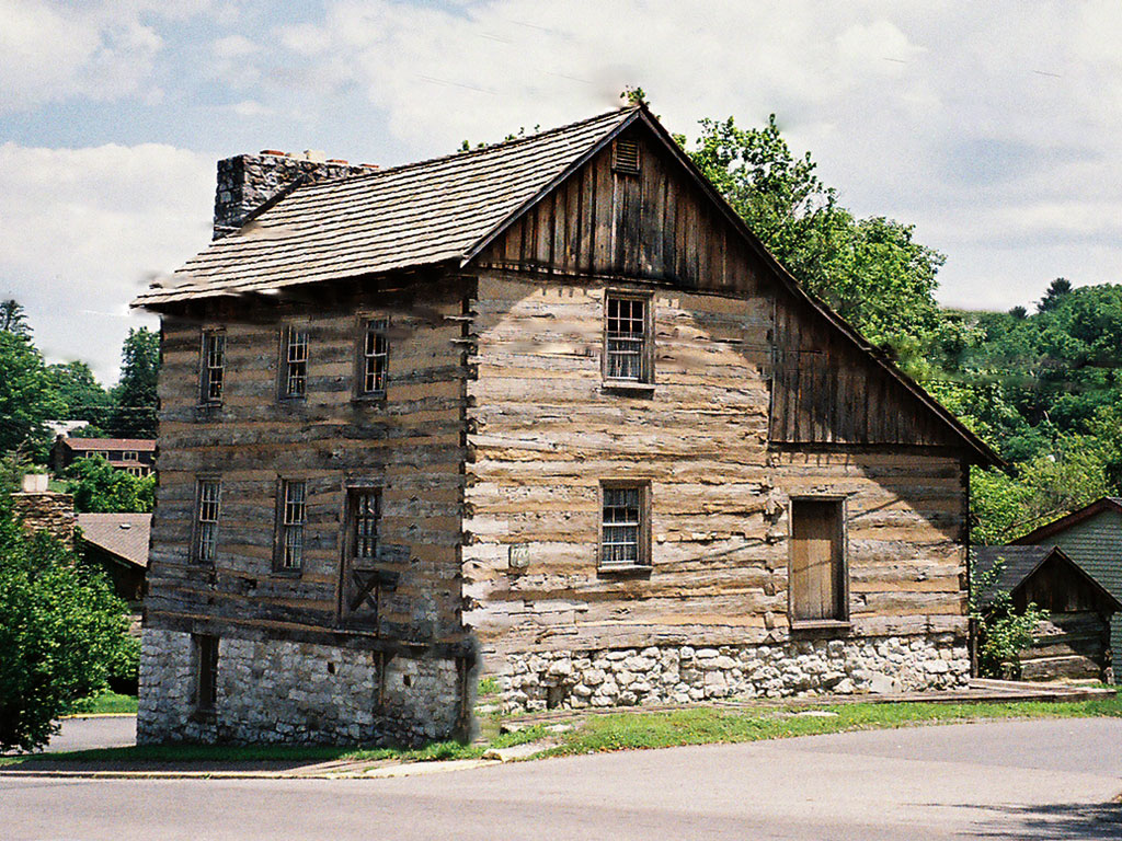 Known as the Barracks, this building was used to store powder and other military equipment rather than house troops. It's location near the spring made it a natural stopping point for troops as well as other travelers.