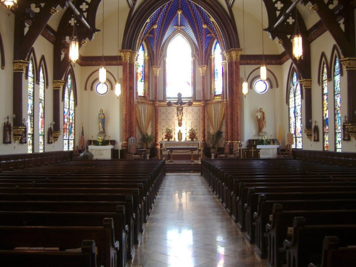 Saint Mary's Cathedral interior view.