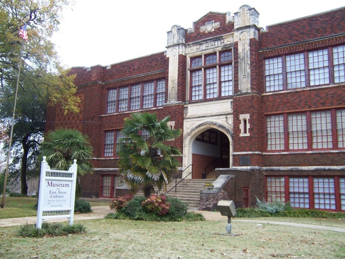 The Museum For East Texas Culture is housed in the former Palestine High School, which was built in 1916.