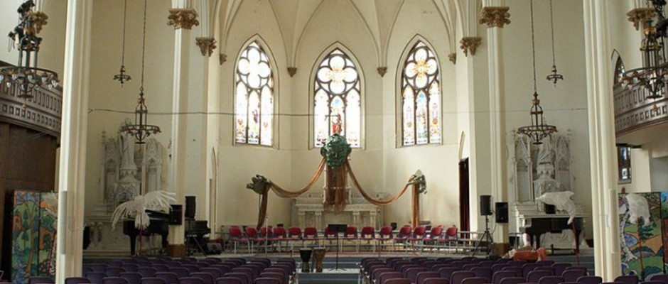 Interior view of the cathedral, which hosts over a dozen concerts each year