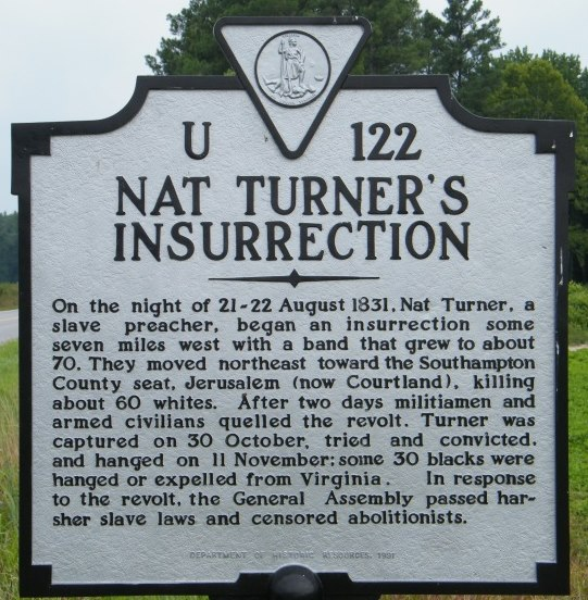 Historical Marker for Nat Turner's Insurrection