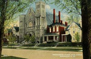 A postcard of the church