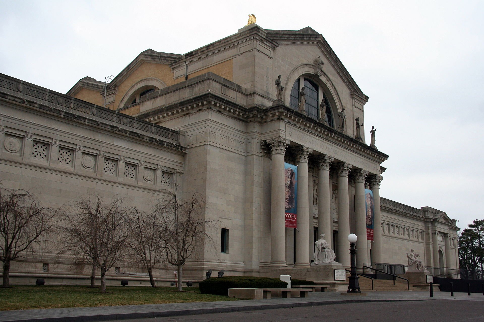 The St. Louis Art Museum is located in the former Palace of Arts Building, which was used for the 1904 World's Fair. The museum contains an impressive collection that showcases almost every culture around the world.