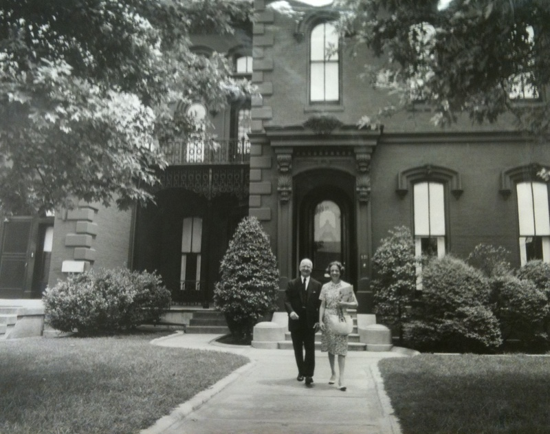 Dr. J.A.O. Brennan in front of the house (image from Savannah Darr)