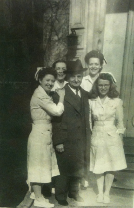 Dr. J.A.O. Brennan with nurses (image from Savannah Darr)