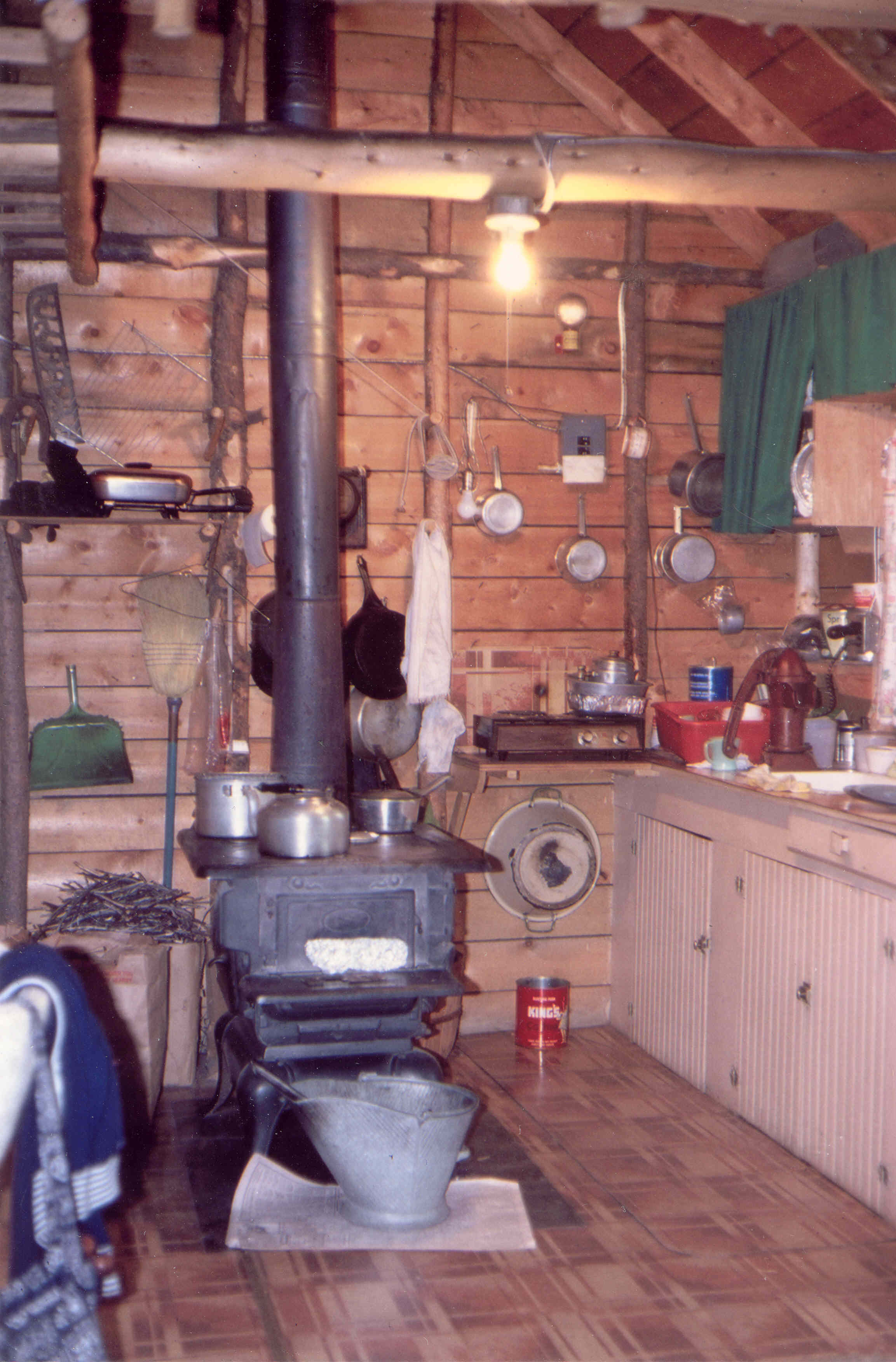 The original interior of the Niemoth Cabin as it sat in Bill's Ranch until 1995.