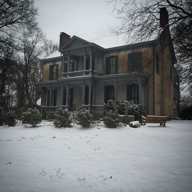 The Historic House (aka, The Historic Croft House), photo taken after a March 2015 snowstorm.