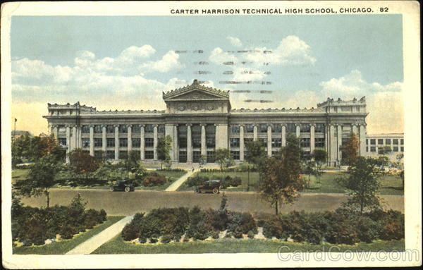 Harrison High School Post Card from Circa 1923