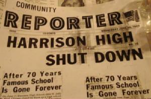 "Community Reporter Cover "" Harrison High Shut Down'"