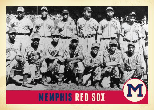 Memphis Red Sox Baseball Card
