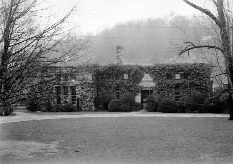 Montague Hall with new addition, 1933.