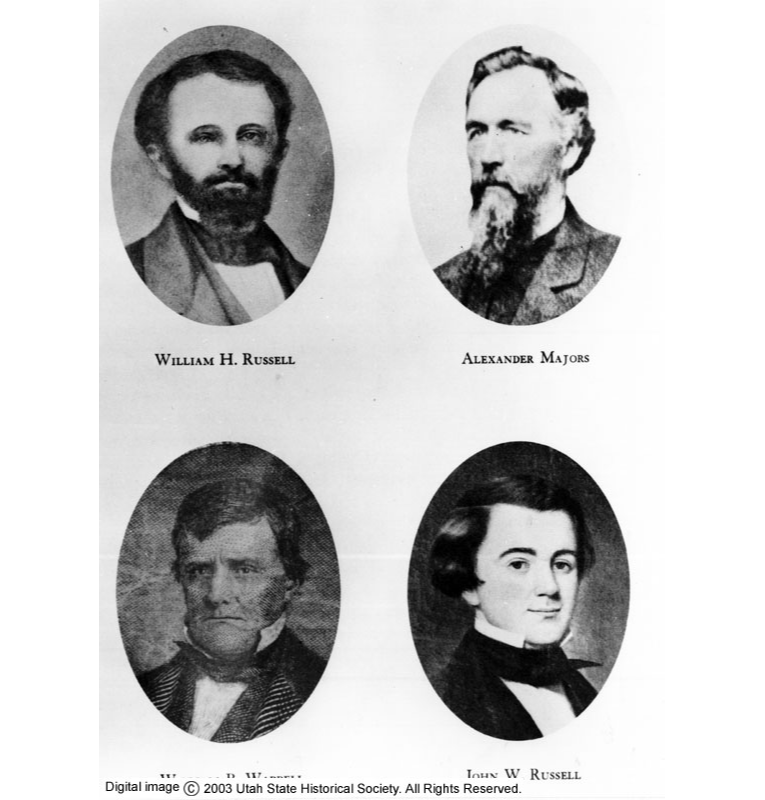 The Pony Express's 3 founders were William H. Russell, Alexander Majors, and William Waddell. Russell's reckless business practices proved troublesome throughout the company's existence.