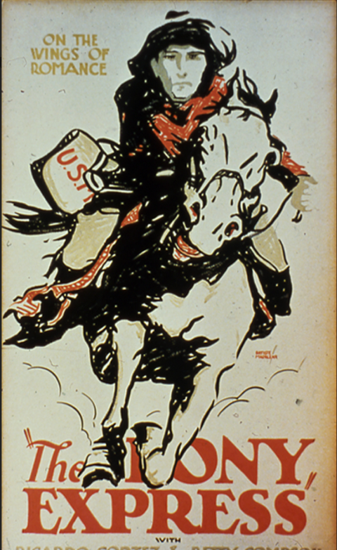 The first film about the Pony Express was released in 1925--and largely continued the practice of romanticizing the men who rode for the brief but influential delivery service (MOMA).