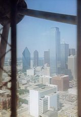 Reunion Tower downtown view