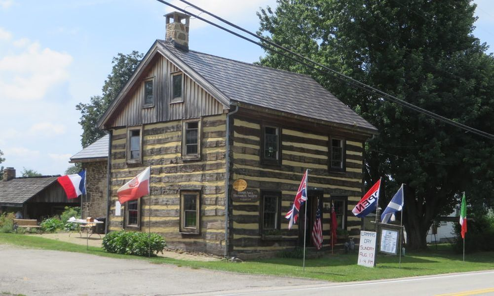 The 1817 Fulton House in New Derry is a former inn along the Northern Pike. DAHS restored the log building and opened it to the public in 1999.