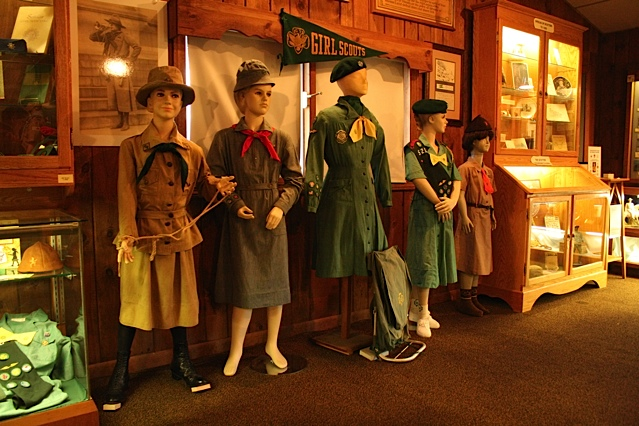 The museum includes exhibits about scouting programs in various nations and those established for both boys and girls.