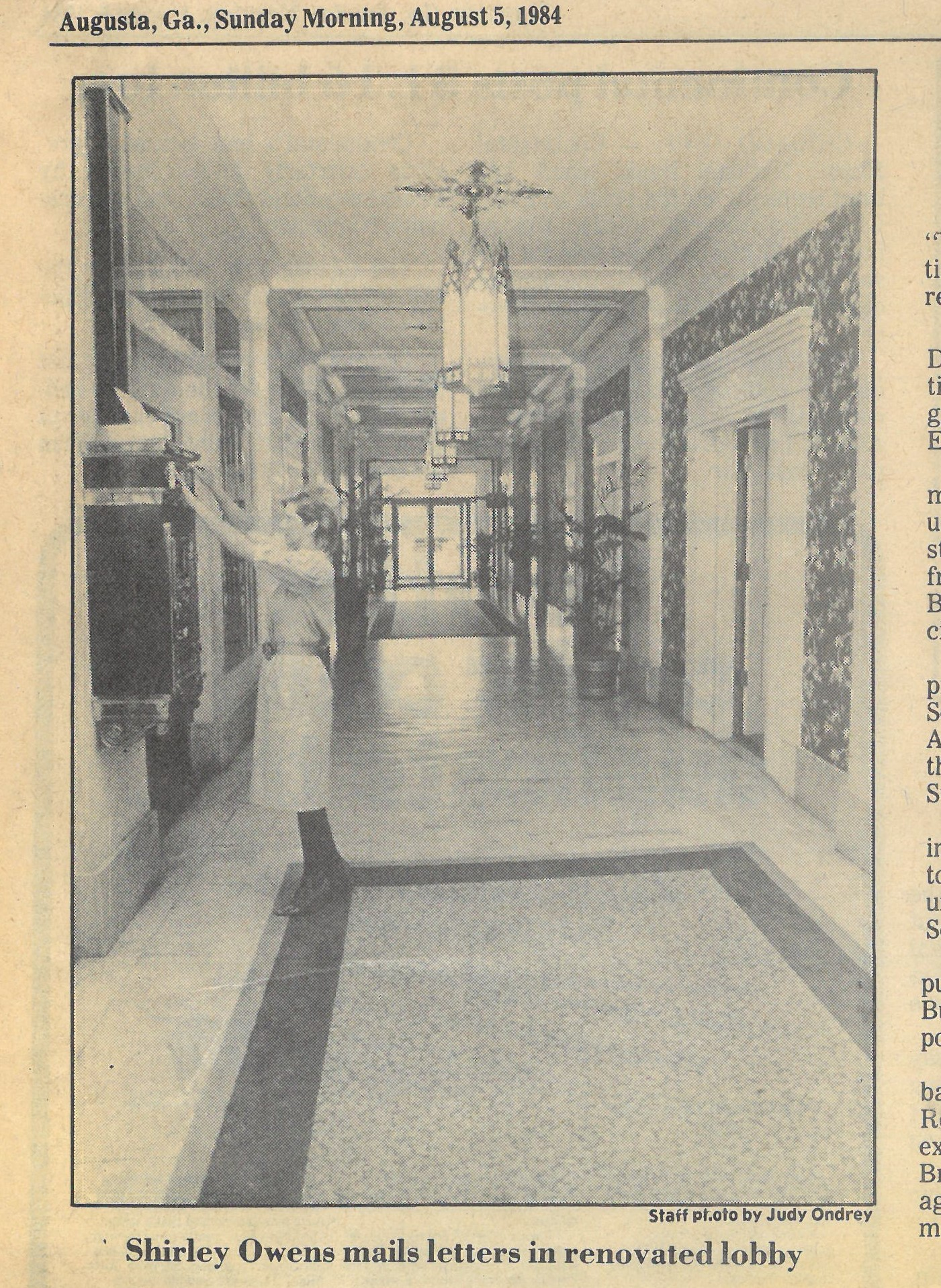 View of Lobby c.1984