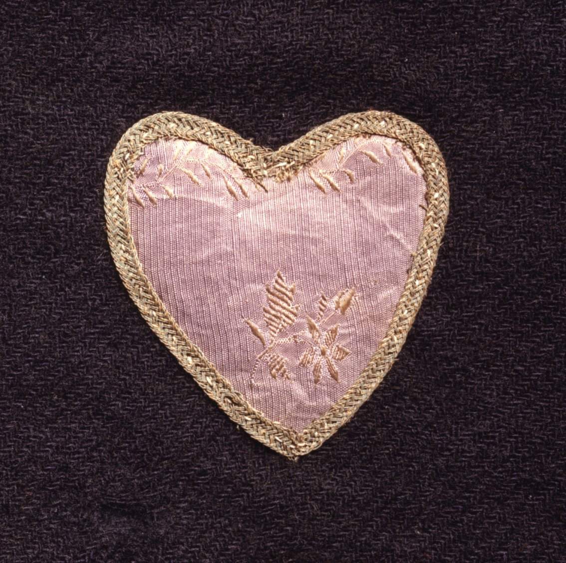 The fabric Purple Heart badge on display at the American Independence Museum.