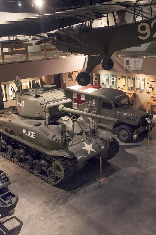 Vehicles in the Gallery of the Wright Museum (Photo Courtesy of the Wright Museum of World War II)