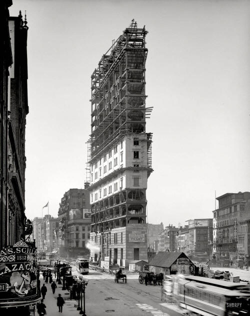 One Times Square Under Construction, 1903