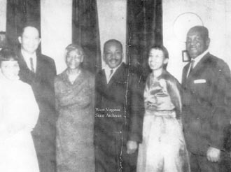 A photo of Rev. Martin Luther King, Jr. in Charleston, WV in 1960.