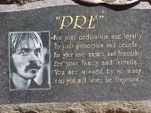 """""""Pre's"""" Rock Memorial Plaque"""