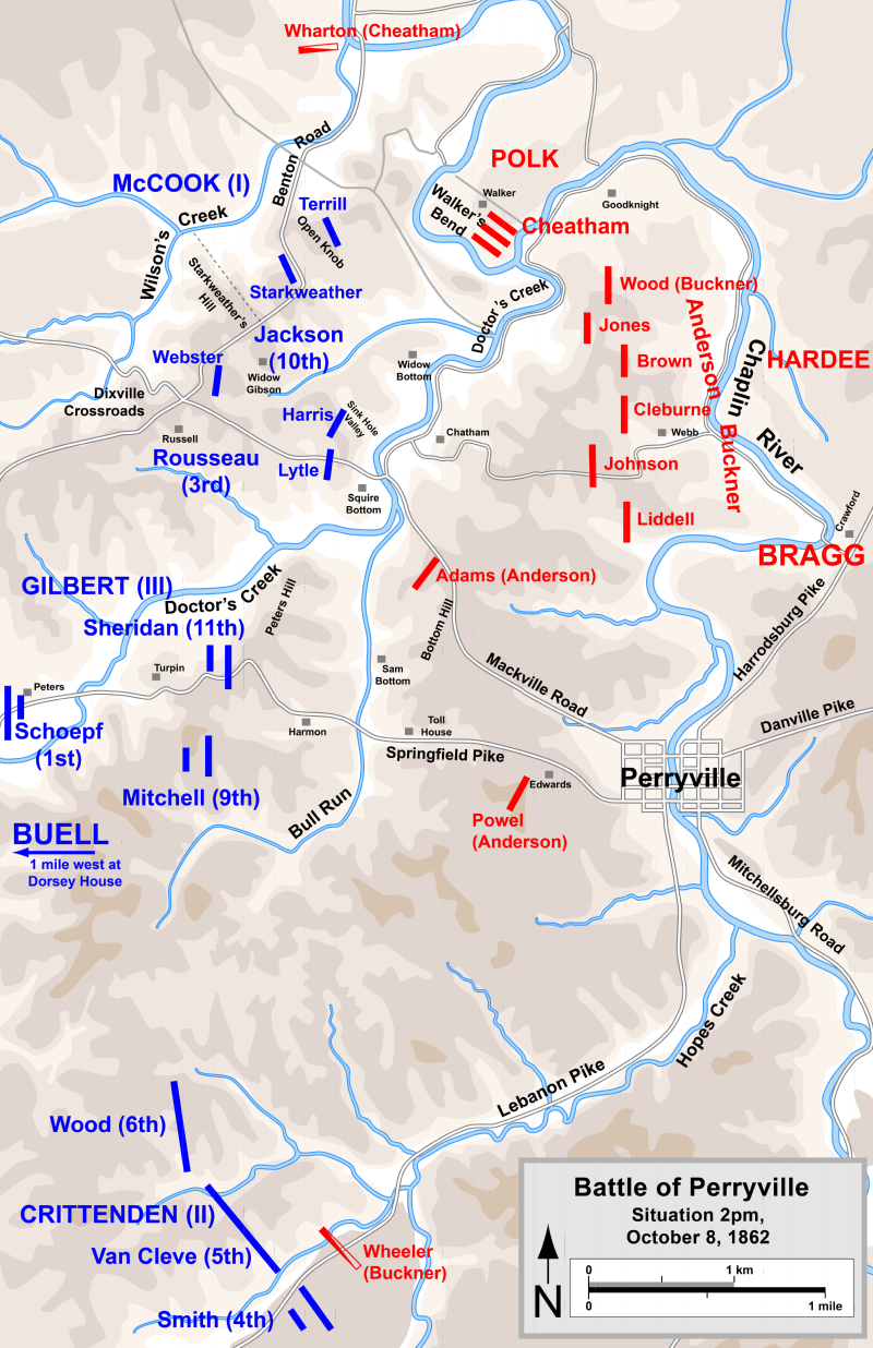 A map of the battlines during the conflict.