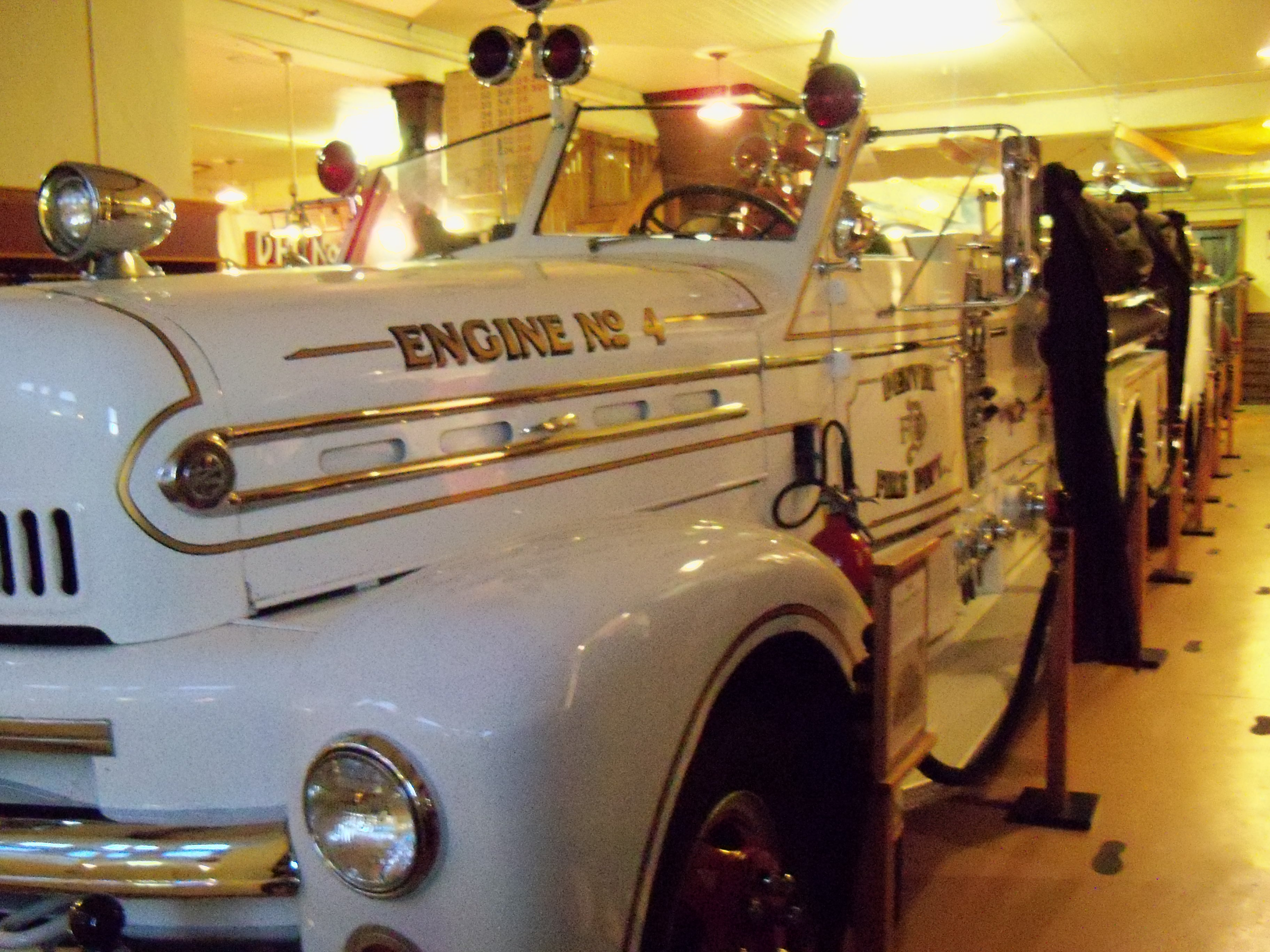 One of the old fire engines that are still on display.